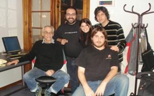 En Mitre junto al equipo de La Trasnoche