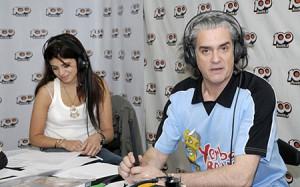 Con Petinato haciendo la locución en El Show de la Noticia  (La 100)
