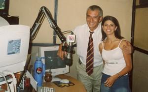 Con Mario Mazzone en La Vuelta por GEN 101.5 (2003)